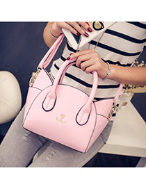 Cute Pink Cat Shape Decorated Regular Geometric Shoulder Bag