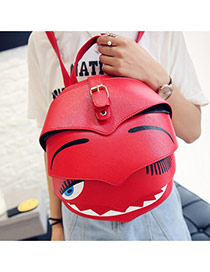 Cute Red Cartoon Ladybird Shape Decorated Simple Backpack