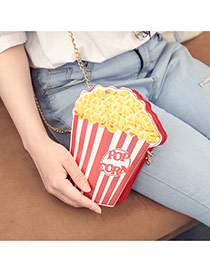 Fashion Multi-color Popcorn Shape Design Long Chain Bag