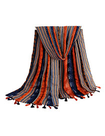 Fashion Multi-color Arrows Pattern Decorated Simple Tassel Scarf
