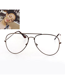 Fashion Champagne Irregular Frame Decorated Thin Leg Simple Glasses