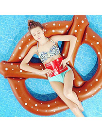 Lovely Brown Dot Pattern Decorated Butterfly Shape Swim Ring