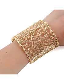 Bohemia Gold Color Pure Color Decorated Hollow Out Bracelet