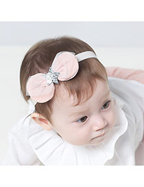 Lovely Pink Bowtie& Star Shape Decorated Simple Design Headbands