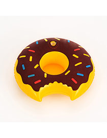 Lovely Brown Doughnut Pattern Decorated Simple Cup Holder Household Goods
