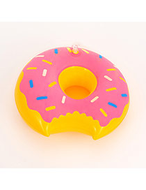 Lovely Pink Doughnut Pattern Decorated Simple Cup Holder Household Goods