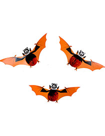 Exaggerated Multi-color Color Matching Decorated Bats Shape Halloween Props(3pcs)