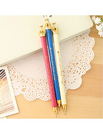 Lovely Random Color Metal Crown Decorated Simple Mechanical Pencil Reviews