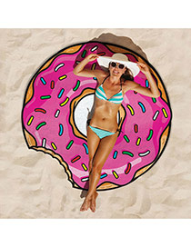 Fashion Pink Donuts Shape Pattern Decorated Cartton Yoga Mat&shawl