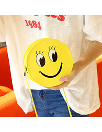 Sweet Yellow Smiling Face Decorated Round Shape Simple Bag