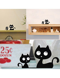 Cute Blakc Pure Color Decorated Cat Shape Home Furnishing Articles