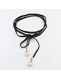 Vintage Black Pearls Pendant Decorated Multi-layer Simple Choker