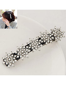 Sweet Silver Color Round Shape Decorated Flower Design Hair Clip