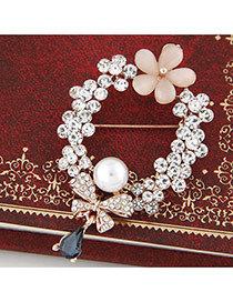 Sweet Rose Gold Flower&bowkont Shape Decorated Simple Brooch