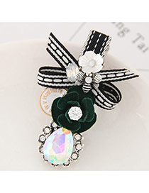 Elegant Green Flower Shape&oval Shape Decorated Simple Hairpin