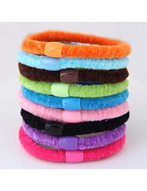 Fashion Multi-color Beads Decorated Pure Color Simple Hair Band (color Randomly)
