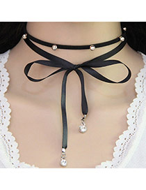 Funky  Choker Of Double-layer Decorated With Rivets