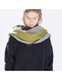 Fashion Multi-color Grid Pattern Decorated Color Matching Simple Scarf