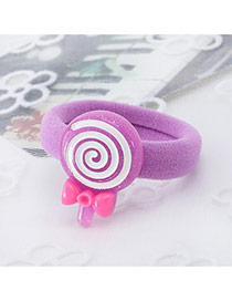 Fashion Purple Lollipop Shape Decorated Color Matching Design Hair Rope