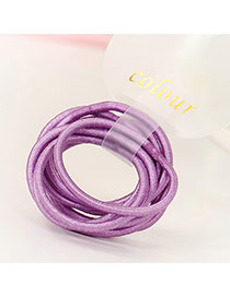 Fashion Purple Pure Color Decorated Simple Hair Band (10pcs)