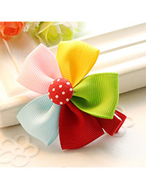 Fashion Multi-color Sunflower Decorated Color Matching Design Simple Hair Clip