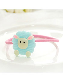 Fashion Blue Kid Decorated Color Matching Simple Hair Clip