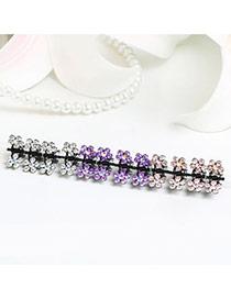 Sweet Multi-color Flower Shape Decorated Simple Design Hair Clip (12pcs)