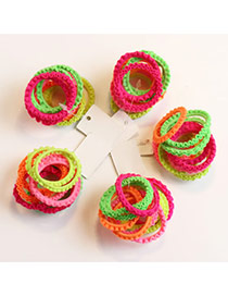 Sweet Multi-color Color Matching Decorated Multilayer Design Hair Band(50pcs)