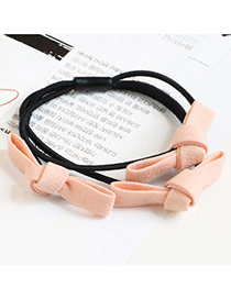 Sweet Orange Color Matching Decorated Multi-layer Bowknot Shape Hair Band