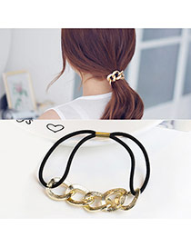 Trendy Gold Color Hollow Out Decorated Double Layer Design Hair Band