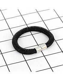 Fashion White Diamond Decorated Pure Color Simple Magnetism Bracelet