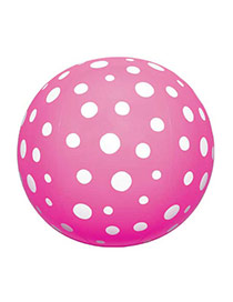 Fashion Pink Round Dot Shape Decorated Simple Aerated Beach Ball