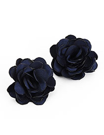 Vintage Blue Earrings In Shape Of Sexy Rose Flor