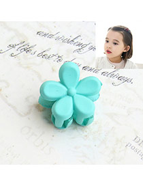 Fashion Blue Flower Decorated Pure Color Simple Hair Pin