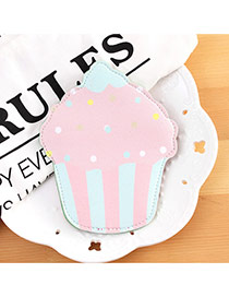 Fashion Pink Cake Shape Decorated Color Matching Simple Wallet