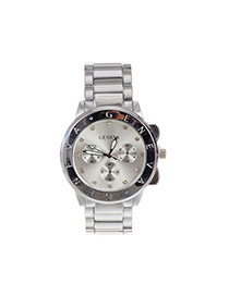 Fashion Silver Color Letter Pattern Decorated Pure Color Chain Watch
