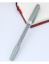 Fashion Gray Macadamn Shape Decorated Simple Gel Pen