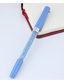 Fashion Blue Macadamn Shape Decorated Simple Gel Pen