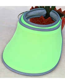 Fashion Green Pure Color Decorated Simple Ultraviolet-proof Cap