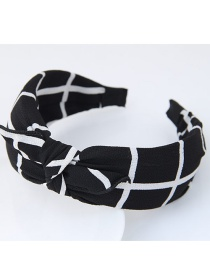 Fashion Black+white Color-matching Decorated Rabbit's Ears Design Hair Clasp