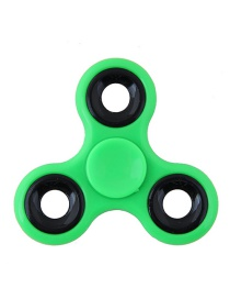 Fashion Green Hollow Out Round Shape Decorated Simple Pure Color Decompression Toy