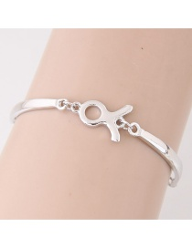 Fashion Silver Color Constellation Shape Decorated Simpe Pure Color Bracelet