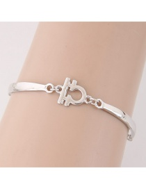 Fashion Silver Color Constellation Shape Decorated Simpe Pure Color Bracelet