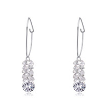 Fashion Zircon Round Shape Diamond Decorated Earrings