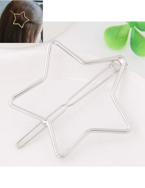 Fashion Silver Color Satr Shape Decorated Pure Color Hairpin