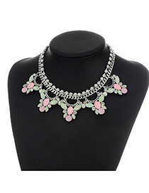 Fashion Multi-color Bee Shape Decorated Short Chain Necklace
