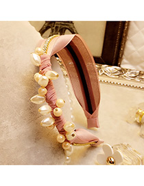 Elegant Pink Round Shape Decorated Simple Wide Hair Clasp