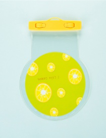 Fashion Light Yellow Lemon Pattern Decorated Pure Color Waterproof Phone Cover