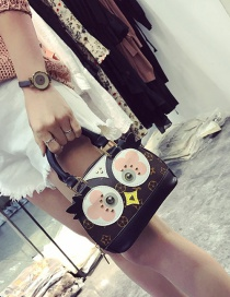 Fashion Brown Chick Pattern Decorated Shell Shape Shoulder Bag