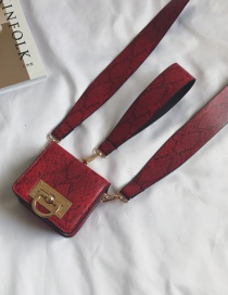 Fashion Red Pure Color Decorated Texture Shape Purse